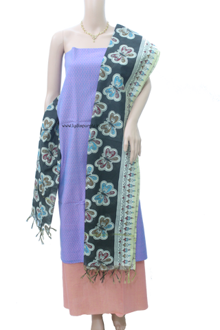 handloom dress material salwar kameez by lydiaspurple