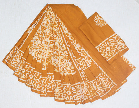 CRBMC04-crack bathik cotton malmal  saree with blouse