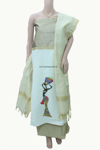 HSDD-Handloom Dress Material - LydiasPurple