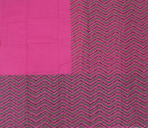 IKPR- Rani Pink kota cotton saree with Ikkat print - LydiasPurple
