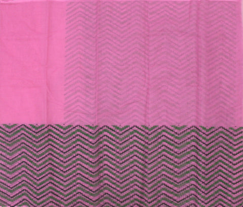 IKPP-Baby Pink kota cotton saree with Ikkat print - LydiasPurple