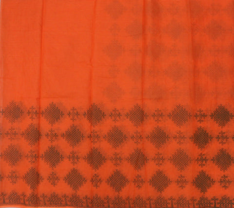 MKPO-BEIGE kota cotton saree with muggu kollam print - LydiasPurple