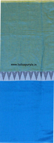 lpmkc03-handloom khadi cotton saree with temple thread border in mid saree - Lydiaspurple