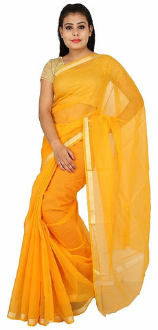 PKCSY-plain kota cotton yellow saree - Lydiaspurple