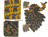 KBPMY08-Kalamkari patch for saree - LydiasPurple