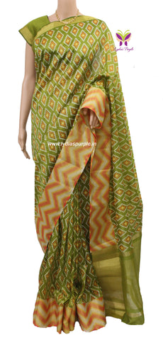 IASMB-Ikka art silk saree with rawsilk blouse - LydiasPurple