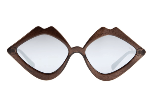 Lip Shaped Black Sunglasses by Chilli Beans