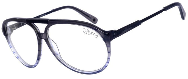 Aviator Optical Glasses Gray Acetate