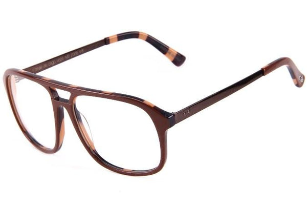 Cazuza Aviator Optical Glasses Brown Acetate
