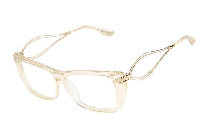 La Summer Ronaldo Fraga Square Optical Glasses Yellow Acetate