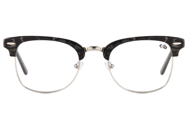 Round Optical Glasses Golden Acetate