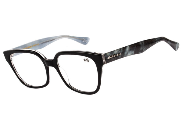 90'S Square Optical Glasses Black Acetate