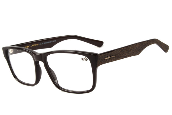 Square Optical Glasses Brown Acetate