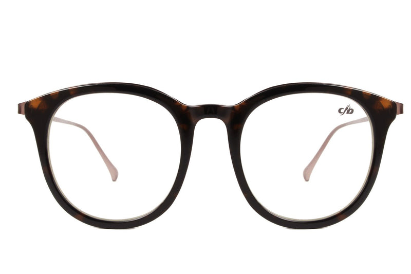 Rock Fellas Cazuza Round Optical Glasses Brown Acetate