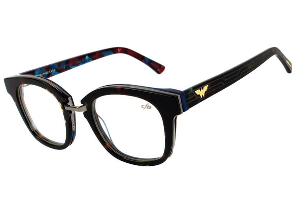 Dc Comics Square Optical Glasses Black Acetate