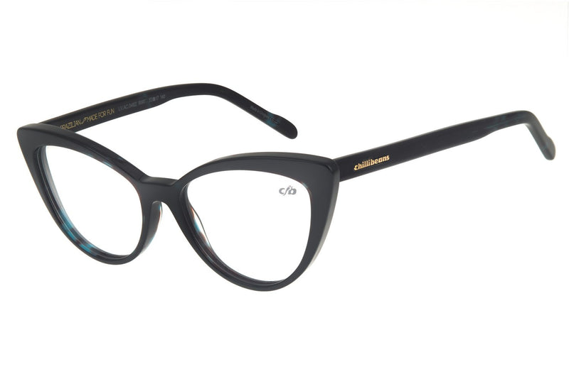 Cat Eye Optical Glasses Dark Blue Acetate