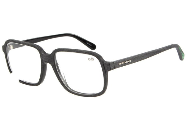 Emicida Square Optical Glasses Black Acetate