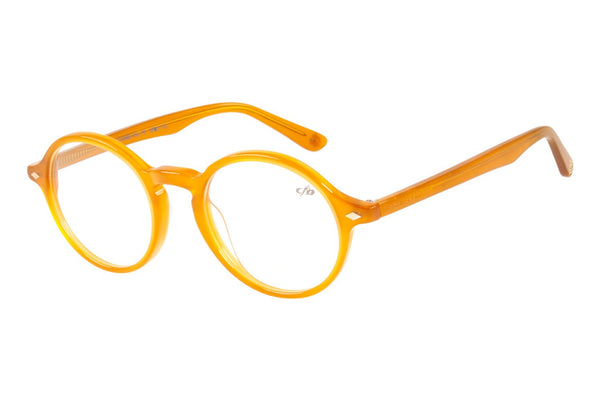 Vintage By Marcelo Sommer Round Optical Glasses Caramel Acetate