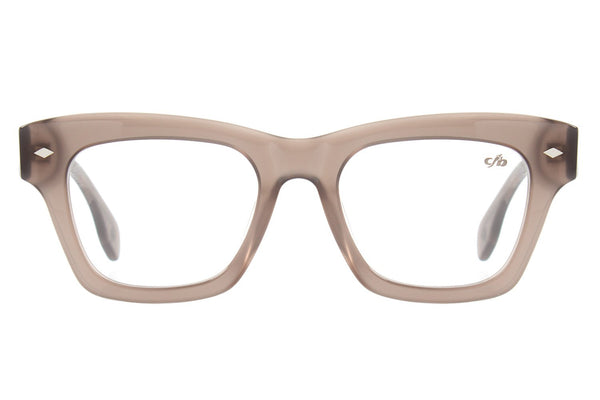 Vintage By Marcelo Sommer Square Optical Glasses Light Brown Acetate