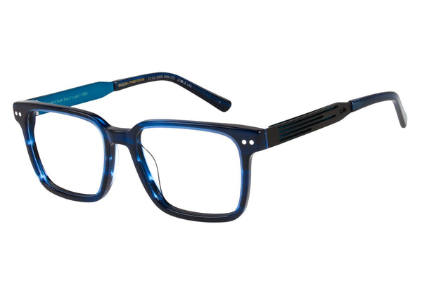 Alok Square Optical Glasses Blue Acetate
