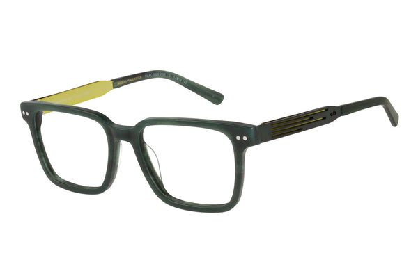 Alok Square Optical Glasses Dark Green Acetate