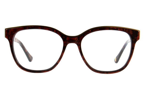 Harry Potter Square Optical Glasses Red Acetate With Stainless Steel