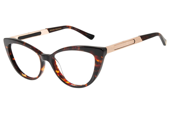 Reverse Cat Eye Optical Glasses Turtle Acetate