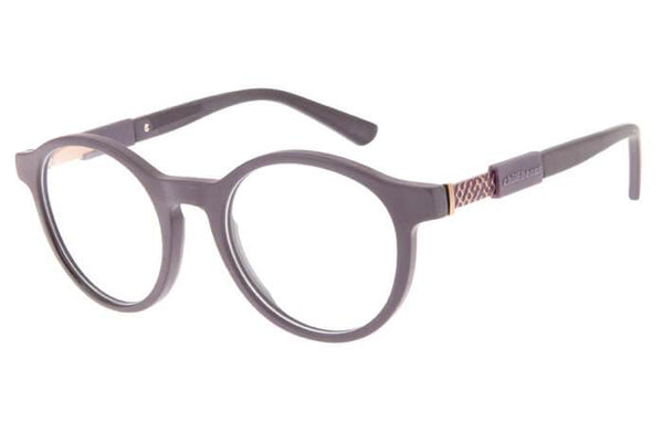 Reverse Round Optical Glasses Brown Acetate