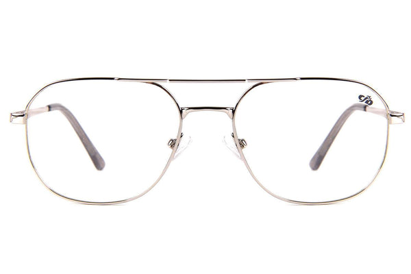 Aviator Optical Glasses Silver Nickel