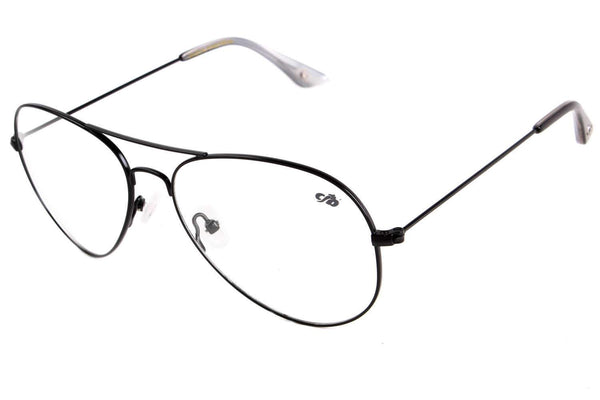Aviator Optical Glasses Black Nickel