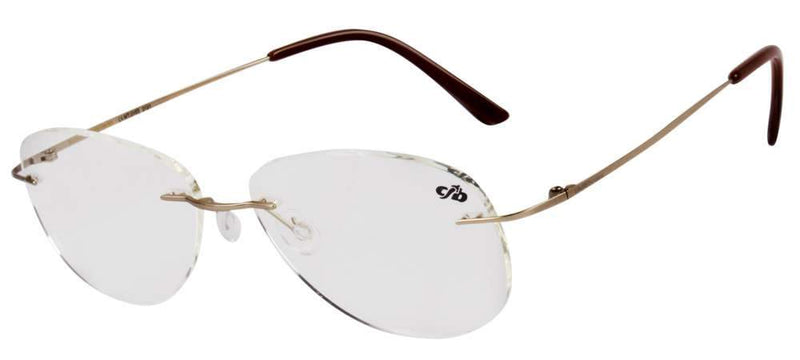 Round Optical Glasses Golden Metal