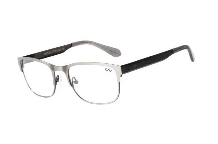 Punk X Glam Square Optical Glasses Silver Metal