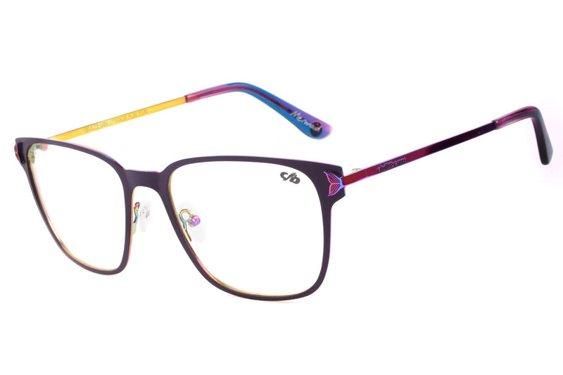 Surf Square Optical Glasses Purple Metal