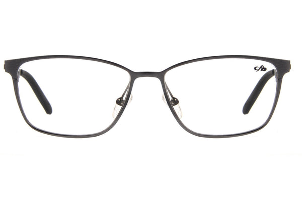 Square Optical Glasses Gray Aluminium