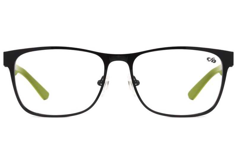 Square Optical Glasses Black Stainless Steel
