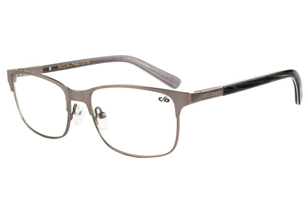Square Optical Glasses Graphite Metal