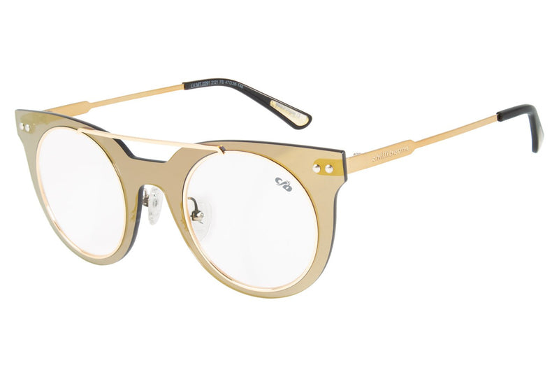 Dudu Bertholini Square Optical Glasses Golden Nylon