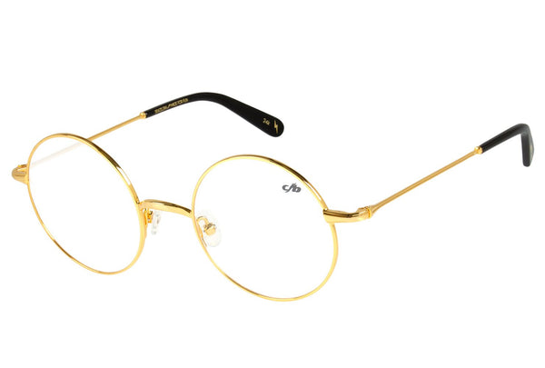 Harry Potter Round Optical Glasses Golden Gold