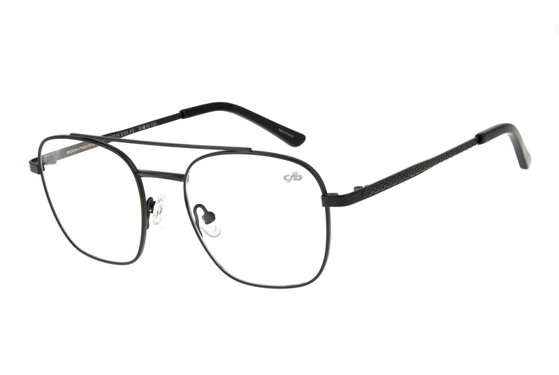 Blk Collection Aviator Optical Glasses Black Stainless Steel
