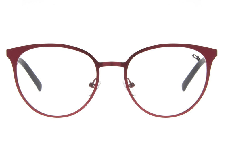 Round Optical Glasses Red Metal