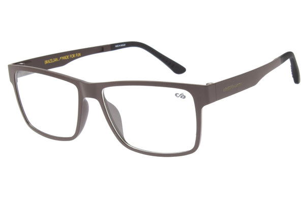 Square Optical Glasses Dark Brown Ultem