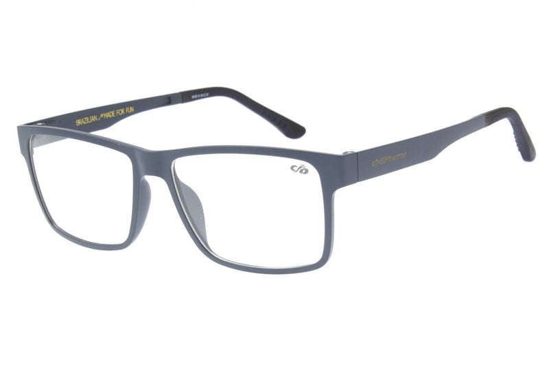 Square Optical Glasses Dark Blue Ultem