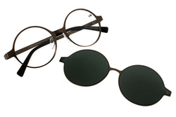 Harry Potter Round Optical Glasses Green Stainless Steel