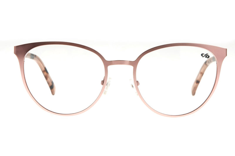 Round Optical Glasses Rose Metal