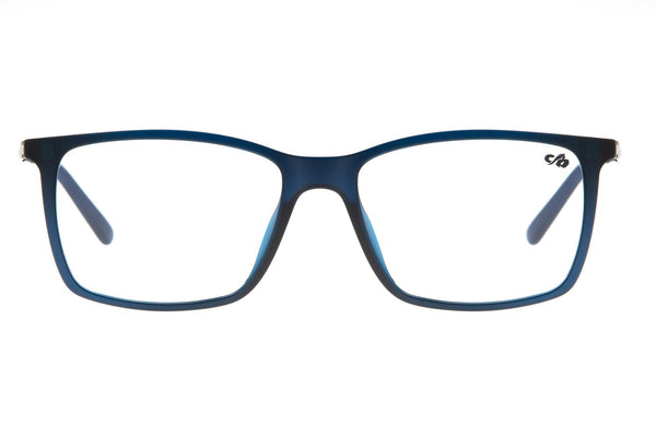 Square Optical Glasses Blue Ultem