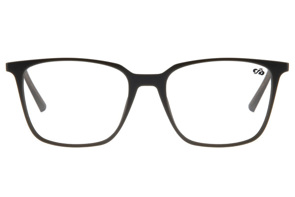 Square Optical Glasses Dark Grey Tr90