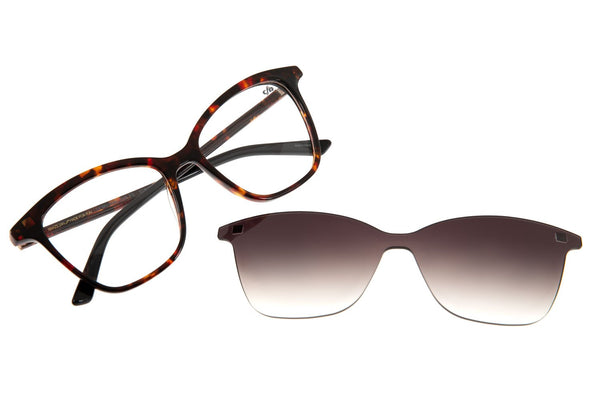Reverse Square Optical Glasses Turtle Acetate