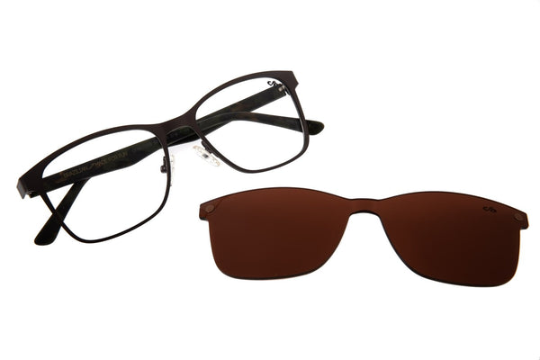 Bossa Nova Optical Glasses Brown Stainless Steel