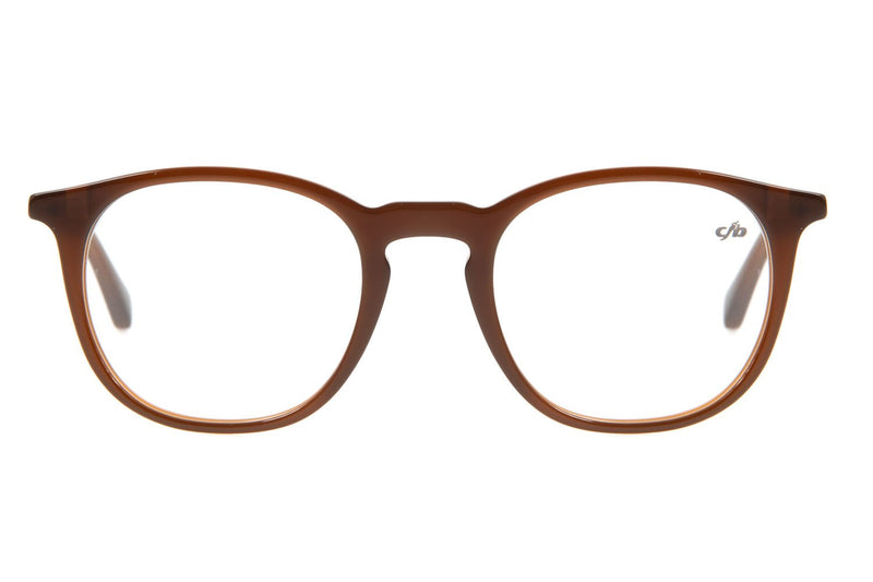 Round Optical Glasses Brown Acetate