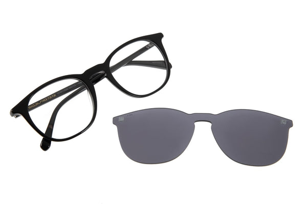 Round Optical Glasses Gray Acetate